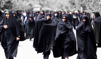 Women wearing the Burqa